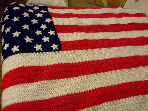 Crochet Pattern For Usa Flag : Flag Salute! Be Sweet Blog Waggle Dancing