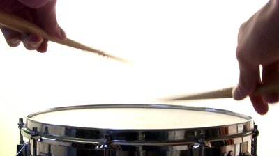 stock-footage-two-snare-drum-rolls-isolated-on-white-background