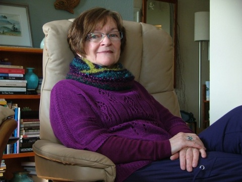 Poet & Knitter Judith heron